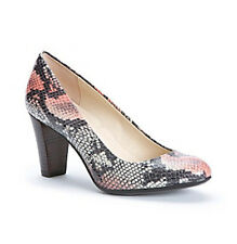 CALVIN KLEIN HEELS Renni 2 Tone Snake Patent Pumps Pink Grey Leather 6 M New Box