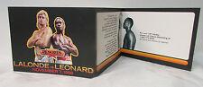 1988 ~ 3 Piece Fold Out of Championship Fight ~ Lalonde vs Leonard, Nov 7,1988