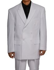 Mens Double Breasted White, Royal Suit ( with pants) by Fortino Landi#901P