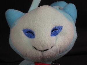 "BLUE AQUA NEOPETS AISHA LETTER A KITTY CAT SOFT PLUSH STUFFED ANIMAL TOY 10"""