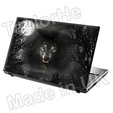 Laptop piel cubierta Notebook Sticker Decal mal Wolf 204