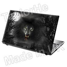 Laptop piel cubierta Notebook Sticker Decal mal Wolf 204