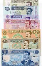 7 Saddam Iraq Dinar Notes Money - Saddam Hussein Currency UNC set