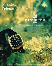 PUBLICITE ADVERTISING  1980   MICHEL HERBELIN  montres étanches