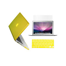"""3 in 1 Crystal YELLOW Case for Macbook PRO 15"""" + Keyboard Cover + LCD Screen"""