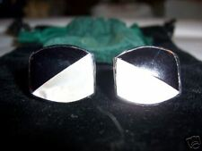 ONIX AND MOTHER OF PEARL HAND MADE CUFFLINKS