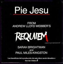 "SARAH BRIGHTMAN & PAUL MILES KINGSTON - SPAIN 7"" EMI 1985 - PIE JESU - (REQUIEM)"