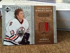 2006-07 Artifacts Treasured Swatches #TS-AH Ales Hemsky /250 3clr Edmonton Oiler
