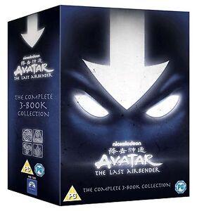 AVATAR HERR DER ELEMENTE 1-3 BOX BUCH 1 2 3 FEUER WASSER ERDE 13 DVD NEU