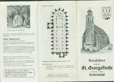 Kurzführer durch die St. Georgskirche Dinkelsbühl Geschichte Bauwerk Fotos 1957