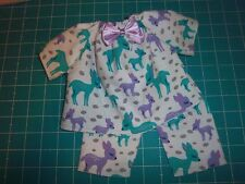 "Doll Clothes 12"" COROLLE MON PREMIER BEBE Deer 2 piece pajamas"