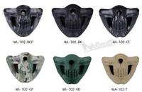 Outdoor Hunting Tactical Cycling Half Face Skull Mask Paintball MA-102