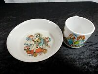 Vintage 1969 ONEIDA DELUXE RAGGEDY ANN & ANDY BOWL 3243 & MUG 4309 Collectible