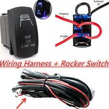 12V 4X4 Offroad Roof LED Light Bar Wiring Harness Laser Rocker Switch Controller