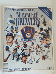 Milwaukee Brewers Baseball MLB 1989 Official Yearbook, 20th Anniv Edition, 64 Pg