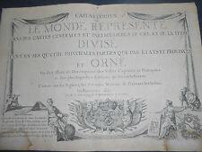 1723 NICOLAS DE FER FRONTESPIZIO ATLAS CURIEUX OU LE MONDE... TITLE PAGE