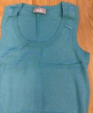 Lovely Wallis Turquoise Tank Top Sleeveless Round Neck Pullover Size 12