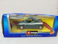 BURAGO FIAT PUNTO POLICE / POLIIZA CAR 1:24 Scale Diecast Model Car