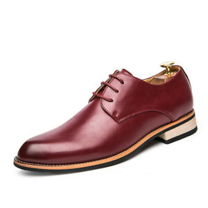 Mens Leather Business Wedding Oxfords Pointy Toe Dress Formal Office Shoes Chic