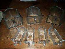 7 Glasschütten antik  Glas Schütte Pressglas Vorratsgefäße vintage