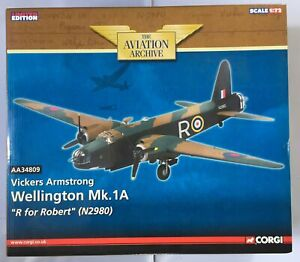 CORGI AVIATION 1:72 AA34809 VICKERS ARMSTRONG WELLINGTON MK1A R FOR ROBERT 2980