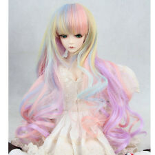 8-9'' 1/3 BJD Doll SD Hair Wig Pink Ombre Dollfie DZ DOD LUTS Long Wavy Toy Hair