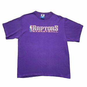 Vintage Champion Toronto Raptors NBA Basketball Graphic T-Shirt Mens Medium