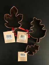 "Wilton Solid Copper Cookie Cutter Maple Leaf Oak Leaf 5.5"" (plated Leaf 3"") NWT"