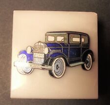 Made In Italy Classic Blue Car Marble Based Paperweight - Exceptional Value!
