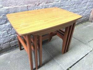 MCM/Vintage/Retro Nest of Tables SCHREiBER /Furniture/Coffee Table/Side Table