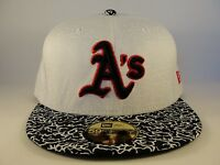 MLB Oakland Athletics New Era 59FIFTY Fitted Hat Cap EITR White Black