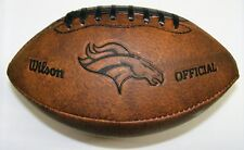 Nfl Wilson Denver Broncos 9 inch Mini Leather Official Throwback Football