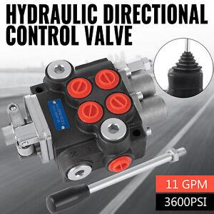 2 Spool Hydraulic Directional Control Valve Tractor Loader 11 GP812M w/ Joystick
