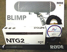 RODE ON-SITE RECORDING PACKAGE; NTG-2, BLIMP,BOOMPOLE & CABLE - *MINT!*