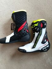 TCX NWT RT-RACE MOTORCYCLE BOOTS SIZE 14 US 49 EURO WHITE/RED/HI-VIZ