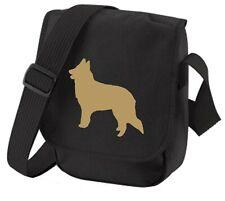 More details for belgian shepherd bag dog bag silhouette shoulder bags sheepdog birthday gift