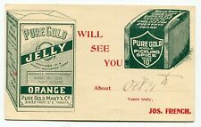 Canada Stationery - Toronto ONT 1899 PURE GOLD - Jelly / Spice - Advertising PC