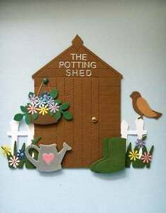 GARDEN POTTING SHED DIE CUTS FOR CARD TOPPERS