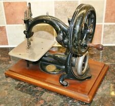 Antique WILLCOX & GIBBS Chain Stitch Hand Crank Sewing Machine c.1888