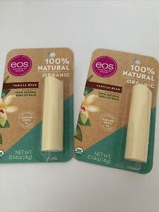 2 EOS Vanilla Bean 100% Natural Organic Shea Lip Balm Evolution Of Smooth USDA