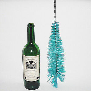 Nylon Bottle Cleaning Brush Wine Beer Home Brew Tube Spout Kitchen CleanerY*hu