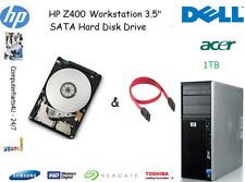"1 TB HP Z400 Workstation 3.5"" SATA disco duro (HDD) de reemplazo/UPGRADE"