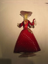 LADY in RED - Hand Made 27cm high Sculpture by Murano