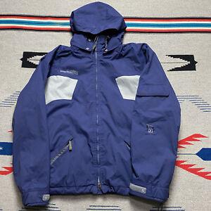 Ride Snowboard Jacket Men's Sz M Blue Solid Hooded Ski Winter Coat Hoodie