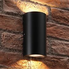 Auraglow Modern Outdoor Double Up & Down Integrated LED Warm White Wall Light