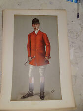 ORIGINAL VANITY FAIR PRINT LONG BURNS FOX HUNTING FREE POST