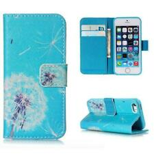 Blue Wishes Wallet iPhone Case for Apple iPhone SE 5 5S Protector Cover Stand