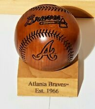 Limited Edition Atlanta Braves Wooden Baseball by Gridworks, Inc. 38 of 5000