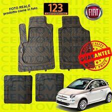 SET TAPPETINI IN GOMMA SU MISURA PER FIAT 500 E 500 C DAL 2007> QUALITA' TOP