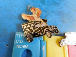Jaycees Nevada Reno Black Mariah Lot of 2 pins One has a showgirl